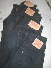 Vintage Wholesale Lot Levi 501 Mixed Series Black Denim Jeans Mix x 100