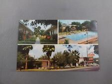 TROPICAL MOTOR HOTEL POSTCARD TEXAS OLD TELEPHONE NUMBER TV IN LOBBY