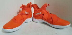 Nike Mens Size 13.5 Orange White Lebron Soldier XII 12 TB Basketball Shoes