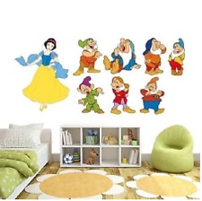 Wall sticker 8 SNOW WHITE SEVEN DWARFS PRINCESS NURSERY DAYCARE KID