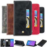 Luxury Wallet Leather Flip Stand Cover Case For Huawei Y6 2019 Y7 2019 P30 Lite