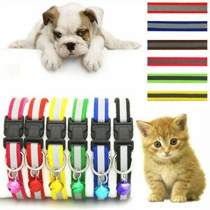 1pcs Animal Break Away Nylon Pet Kitten Cat Dog Adjustable Safety Collar Bell