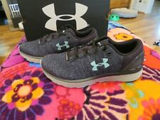 Brand New Girls Black & Green Under Armour Charged Bandit 3 Tennis Shoes, 4