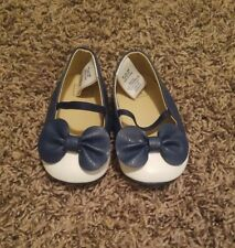 Janie and jack crib shoes 6-12 Months Navy Blue Mary Janes