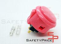Pulsador Arcade Sanwa OBSF - 30 Original Rosa faston Bartop Raspberry SP