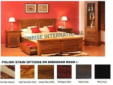 Wooden  Queen Size Double Bed with 2 storage drawers under mattress !!