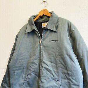 Vintage Carhartt Mens modular jacket lined grey collared zip outdoor workwear