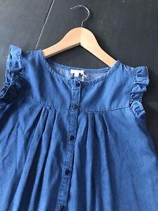 JACADI 10 ans 🌸 Blouse fille chemisier en coton léger coloris jean