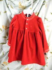 12 month Ralph Lauren 2 pc red velvety dress NWT