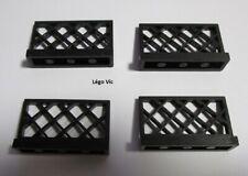 Lego 3185 Barrière Fence 1 x 4 x 2 Black Noir  x 4 city house Moc