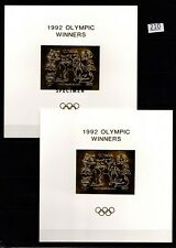 # GUYANA - MNH - IMPERF - SPECIMEN - GOLD OVERPRINT - OLYMPICS, DOGS, CATS
