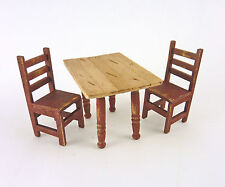 Dollhouse Miniature Half Scale Aged Red Dining Set, 1:24