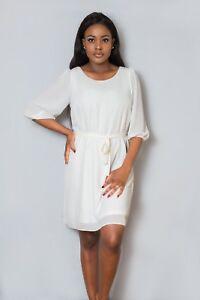 White and Pink Midi Dress
