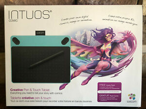 Wacom Intuos Comic CTH-490 Small Mint Blue Touch Tablet and Pen PC & MAC
