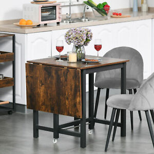 HOMCOM Drop Leaf Kitchen Foldable Table Folding Table Foldable for Dining Room