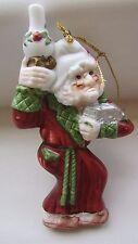 """1987 NIB Kurt S. Adler Ceramic SCROOGE Christmas Ornament in Box 5"""""""