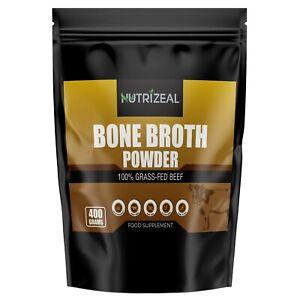 Beef Bone Broth Flavoured POWDER 400g  | 100% Grass Fed Premium