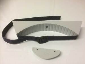 Grey plastic caravan motorhome gas bottle holder bracket + strap + buckle GBS3