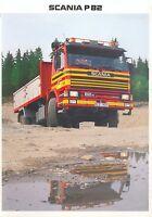 Scania P82 Prospekt NL 1982 12/82 prospectus brochure broschyr brosjyre truck