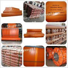 Orange Plastic Med Impact 200 Micr 2mx50m 100m2 Rolls Brand New