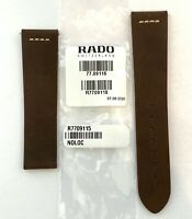 Original RADO Captain Cook Dark Brown Suede Leather Watch Band Strap 09115