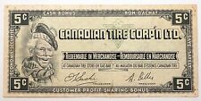 Billet 5 Centimes marchandise Canada