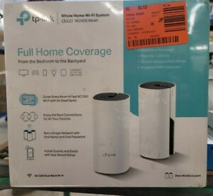 NEW TP-LINK DECO W2400 2-PACK WHOLE HOME MESH WI-FI SYSTEM FREE SHIPPING
