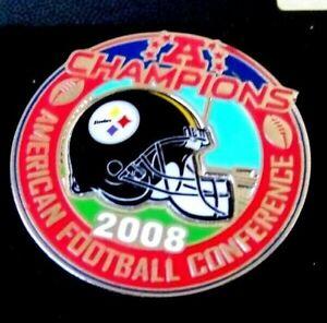 SB Super Bowl 43 XLIII Pittsburgh Steelers AFC Champions pin v1 psg