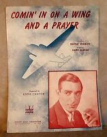 Comin' In On A Wing And A Prayer Harold Adamson Perry Como 1943 WWII Sheet Music