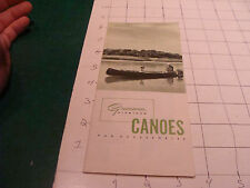 vintage paper: 1951 Grumman Aluminum CANOES & accessories CATALOG fold out