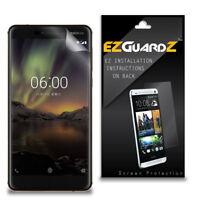 4X EZguardz New Screen Protector Cover HD 4X For Nokia 6 (2018)
