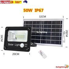 LED 50W 80W 120W Solar Light Street Flood Motion Sensor Remote Outdoor Garden AU