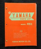 "1970 YAMAHA ""90cc MODEL HS1"" MOTORCYCLE PARTS CATALOG MANUAL VERY NICE"