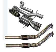Downpipes Impianto di Scarico Audi s4 rs4 b5 90mm ACCIAIO INOX 2,7t 200 celle E-prüfzeich.