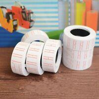 500 Labels/Roll MX5500 Price Label Paper Tag Sticker Labeller Gun White Red Line