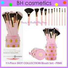 NEW BH Cosmetics 11-Piece DOT COLLECTION PINK Brush Set w/Cup Holder FREE SHIP