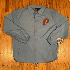 Philadelphia Phillies Cooperstown Collection Blue Coaches Jacket Size Large