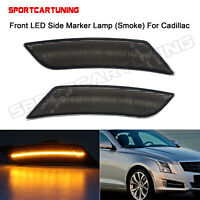 NEW FRONT SIDE MARKER LIGHT PAIR FITS CADILLAC ATS 2013-2014 GM2551199 22941173