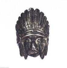 Native American Inspired Sterling Indian Chief Headdress Ring Alberto Juan
