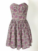 Jack Wills Liberty of London Limited Edition Pink Floral Prom Dress UK 8 US 4