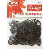 Annie 300 Rubber Bands Assorted Size Brown #3154