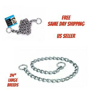 24 Inch Large Dog Choke Chain Collar - Obedience Collar -USA SELLER - Heavy Duty