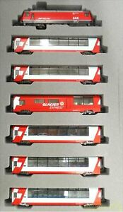Used KATO 10-1146 N gauge Alps Glacier Express Basic 7 car Set Increased Bonding