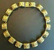 Vintage Brass Art Deco Necklace 1930s