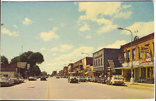 Gaylord MI Main Street Storefronts Rexall Drug Store Old Cars Vintage Postcard
