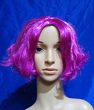 197 NEW Ladies Short Flip Out Purple Fancy Dress Costume Full Wig