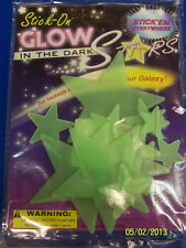 Glow-in-the-Dark Stars Green Plastic Sticker Outer Space Party Wall Decorations
