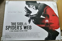 "2018 THE GIRL IN THE SPIDERS WEB Original Uk Quad Cinema Poster 30""X40 landscape"