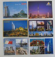 6 x Postkarte DUBAI Postcards Lot Ansichtskarten mit Briefmarken, with stamps