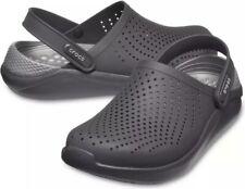 Crocs LITERIDE UNISEX - Clogs In Black/Slate Grey - New & Boxed - UK8